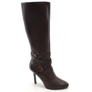 Ralph Lauren Laveda High Heel Zip Knee Boots 9 M